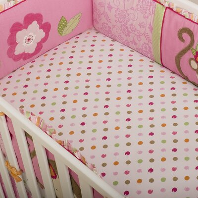 Kids Line Miss Monkey Fitted Sheet