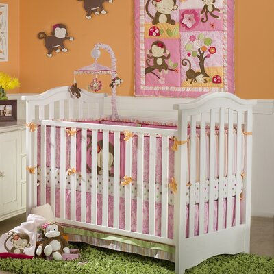 Miss Monkey Crib Bedding Collection