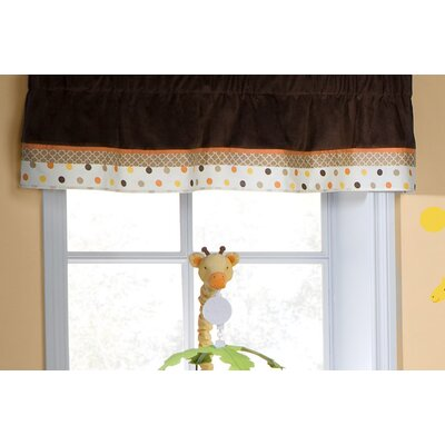 Kids Line Sunny Safari Rod Pocket Ruffled Curtain Valance