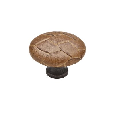 Knobware Covered Weave Knob in Covered Oil Rubbed Bronze