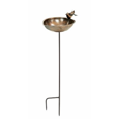 Heart Shaped Birdbath and Feeder