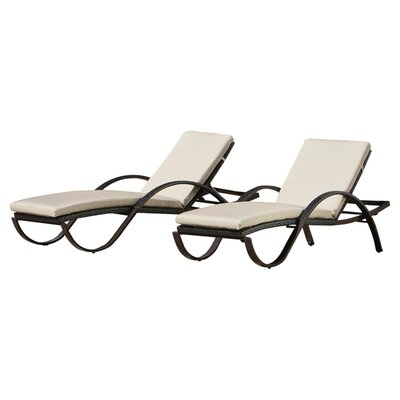 RST Outdoor Slate Deco Lounge with Cushions (Set of 2)
