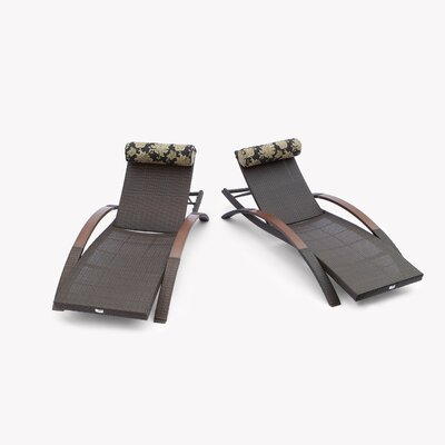 RST Outdoor Delano Arc Lounger with Cushion (Set of 2)