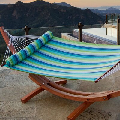 RST Outdoor Ocean Breeze Quilted Hammock Bed with Stand
