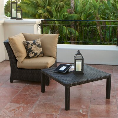 RST Outdoor Delano Deep Seeting Corner Chair with Cushions and Coffee Table