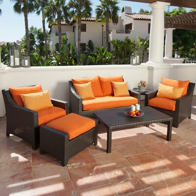 RST Outdoor Tikka 6 Piece Deep Seating Group with Cushions
