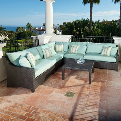 RST Outdoor Bliss 6 Piece Deep Seating Group with Cushions