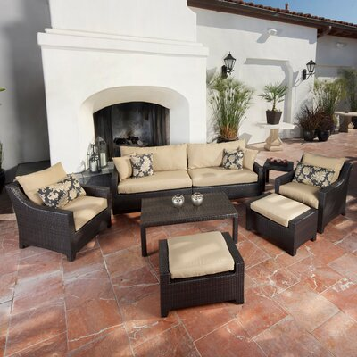 RST Outdoor Delano 8 Piece Deep Seating Group with Cushions