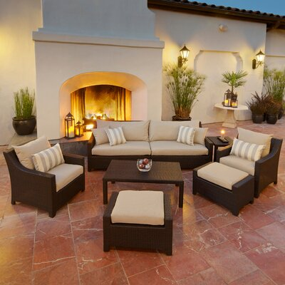 RST Outdoor Slate 8 Piece Deep Seating Group with Cushions