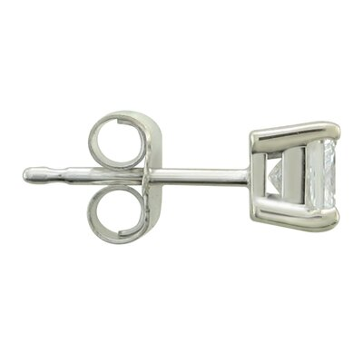 A Jewelers 14k White Gold 1/4ct TDW Certified Diamond Stud Earrings