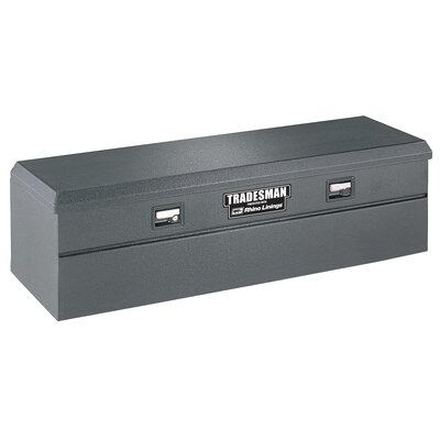 Rhino Lined Flush Mount Single Lid Truck Tool Box