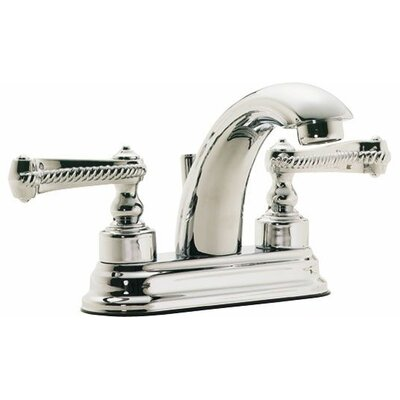 "California Faucets Santa Monica ""J"" Style Double Handle Centerset Bathroom Sink Faucet"
