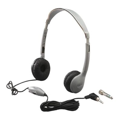 Hamilton Electronics Leatherette Ear Cushioned Personal Volume Control Educational Headphone