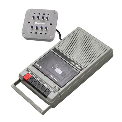 Hamilton Electronics Cassette Player with 8 Position Jack Box