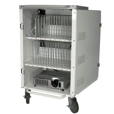 "Hamilton Electronics 30 Bay 38"" Tablet Security and Charging iPad Cart"