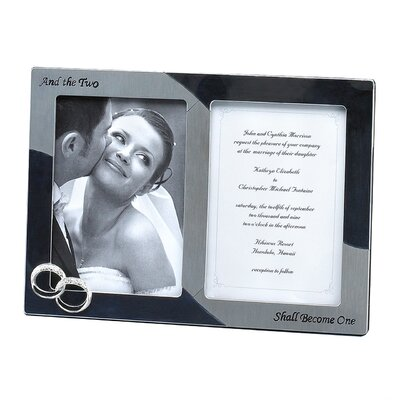 Wedding Double Rings Two Shall Double Picture Frame