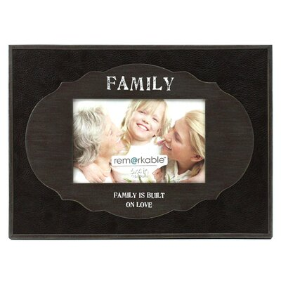 Fetco Home Decor Expressions Family is Built on Love Photo Frame