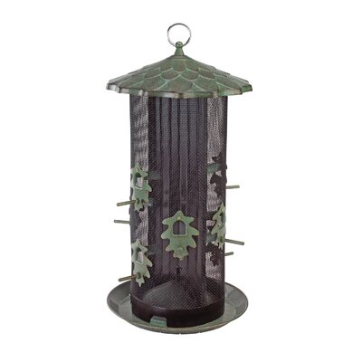 Hiatt Manufacturing Belle Fleur Oak Leaf Dual Screen Bird Feeder
