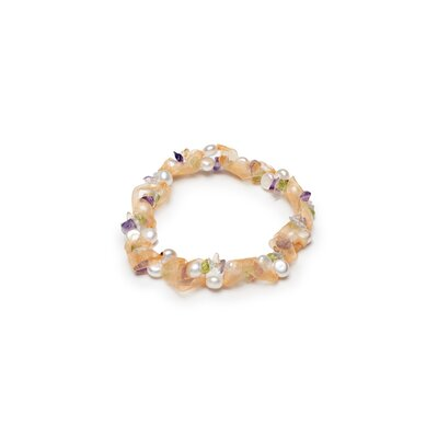 Ribbon Cultured Pearl Beaded Bracelet
