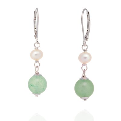 Of The Orient Round Cut Gemstone Drop Earrings