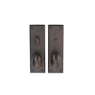 Hamilton Sinkler Deadbolt Privacy Indoor Door Handle with Wilson Oval Knob