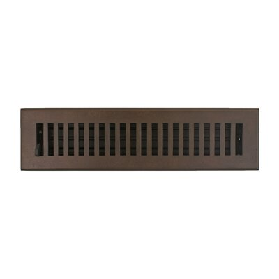 "Hamilton Sinkler Registers and Vents 2.25"" Flat Vent with Damper"