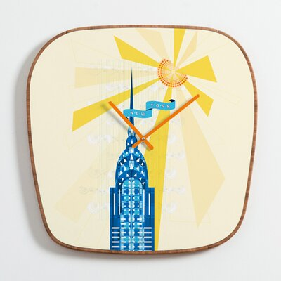 DENY Designs Jennifer Hill New York City Chrysler Building Clock