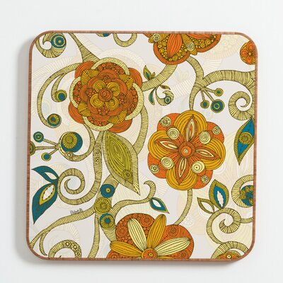 DENY Designs Valentina Ramos Orange Flowers Wall Art