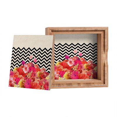 DENY Designs Bianca Green Chevron Flora 2 Storage Box