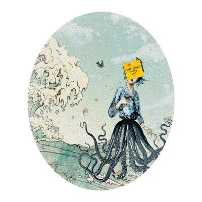 DENY Designs Belle13 Sea Fairy Oval Bulletin Board