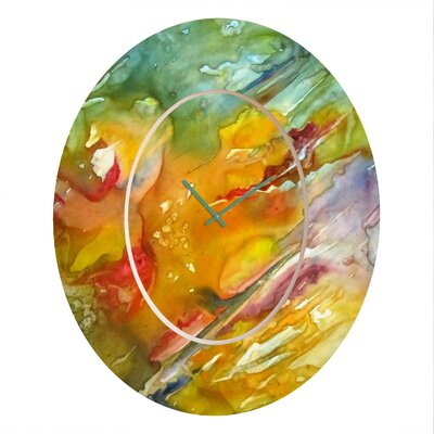 Rosie Brown Abstract Wall Clock