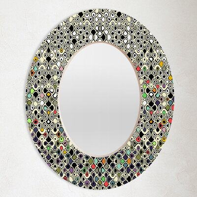 DENY Designs Sharon Turner Cellular Ombre Oval Mirror