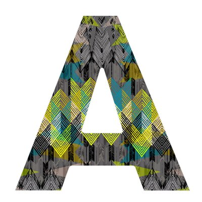 DENY Designs Pattern State Arrow Night Decorative Letters