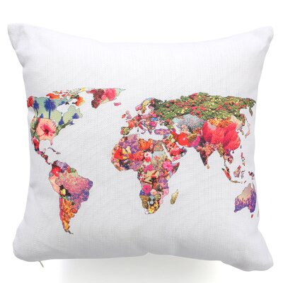 <strong>DENY Designs</strong> Bianca Green Its Your World Woven Polyester Throw Pillow