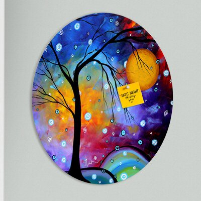 DENY Designs Madart Inc. Winter Sparkle Oval Magnet Board
