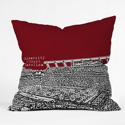DENY Designs Bird Ave University of South Carolina Dark Woven Polyester Throw Pillow