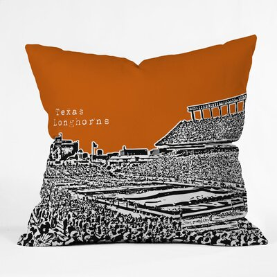 DENY Designs Bird Ave Texas Longhorns Woven Polyester Throw Pillow