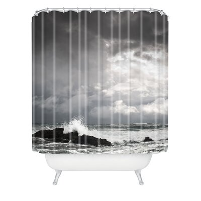 DENY Designs Bird Wanna Whistle Woven Polyester Water Shower Curtain