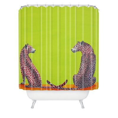 DENY Designs Clara Nilles Woven Polyester Leopard Lovers Shower Curtain