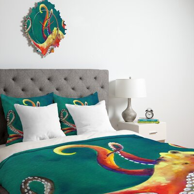 DENY Designs Clara Nilles Mardi Gras Octopus Duvet Cover Collection
