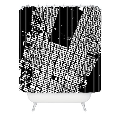 DENY Designs CityFabric Inc Woven Polyester NYC Midtown Shower Curtain
