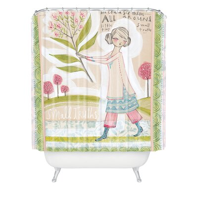 DENY Designs Cori Dantini Woven Polyester Small Truths Shower Curtain