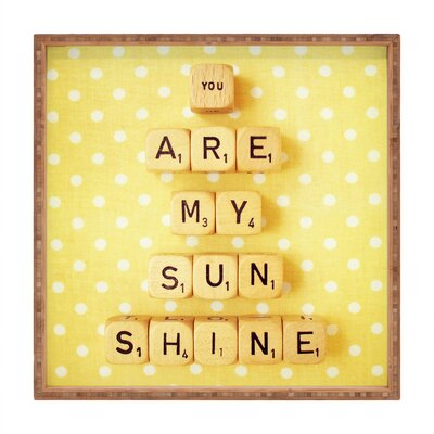 DENY Designs Happee Monkee You Are My Sunshine Square Tray