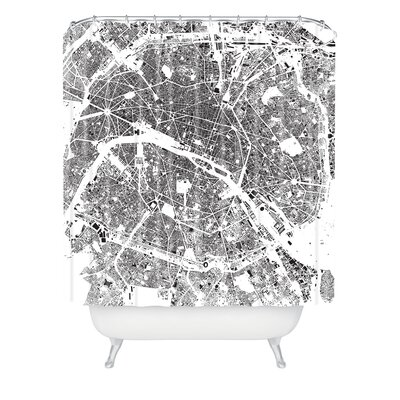 DENY Designs CityFabric Inc Woven Polyester Paris Shower Curtain