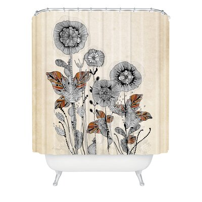 DENY Designs Iveta Abolina Polyester Floral 3 Shower Curtain