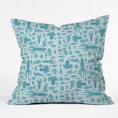 DENY Designs Jennifer Denty Sea Creatures Indoor / Outdoor Polyester Throw Pillow