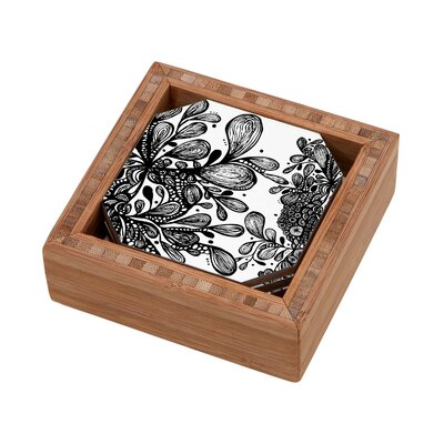 DENY Designs Julia Da Rocha Wild Leaves Coaster