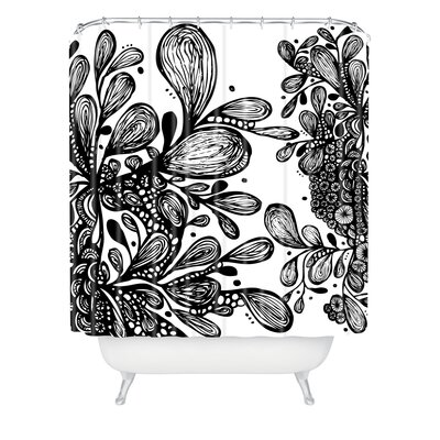 DENY Designs Julia Da Rocha Wild Leaves Shower Curtain