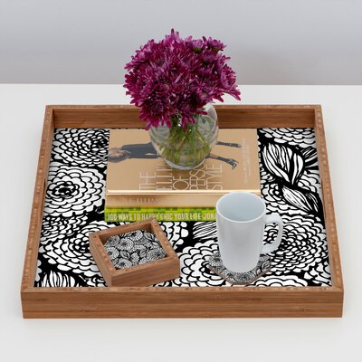 DENY Designs Julia Da Rocha Bouquet of Flowers Love Coaster