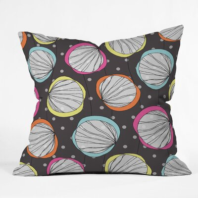 DENY Designs Rachael Taylor Scribble Shells Woven Polyester Throw Pillow